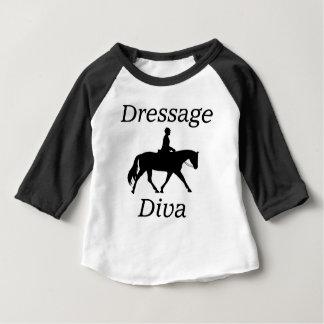 Diva van de dressuur Paardrijden Baby T Shirts