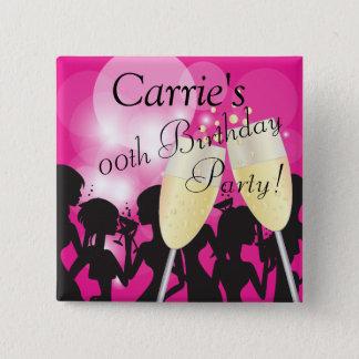 Diva van de verjaardag of van de Vrijgezellin de Vierkante Button 5,1 Cm