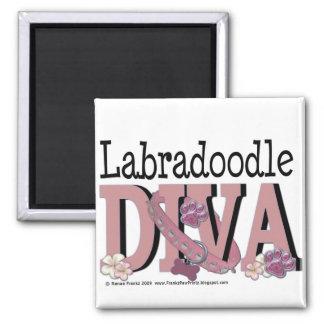 DIVA van LabraDoodle Vierkante Magneet