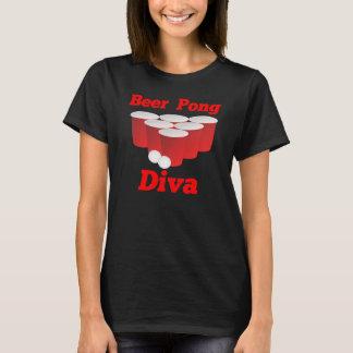 Diva van Pong van het bier T-shirt
