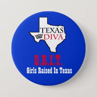 Diva van Texas - G.R.I.T. die = Meisjes in Texas Ronde Button 7,6 Cm