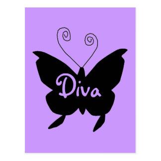 Diva Vlinder Briefkaart