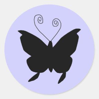Diva Vlinder Ronde Sticker