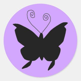 Diva Vlinder Ronde Stickers