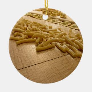 Diverse mengeling van verse Italiaanse Rond Keramisch Ornament
