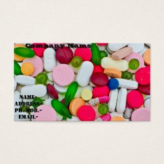 Diverse pil/geneesmiddel visitekaartjes