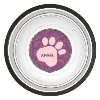 DIY Creëer Uw Eigen Roze Patroon van de Druk van Kattenvoerbakje
