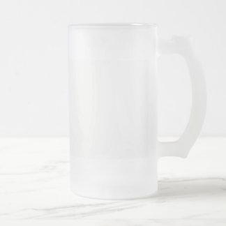Diy de sjabloon voegt de veranderingskleur toe van matglas bierpul