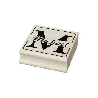 DIY - eenvoudig Monogram/Naam Rubberenstempel