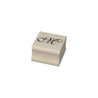 DIY - eenvoudig Monogram + van u Rubberenstempel