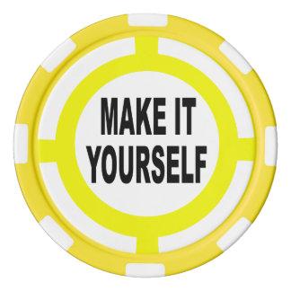 DIY maakt het zelf wit en geel Pokerchips