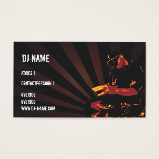 Dj Business card Visitekaartjes