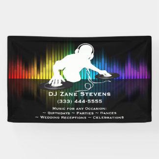 DJ dat VinylBanner spint