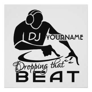 DJ- douaneposter Poster