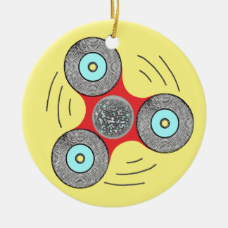DJ friemelt Spinner Rond Keramisch Ornament