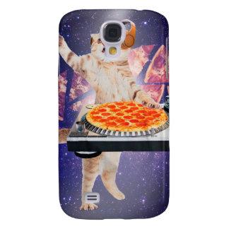 DJ kat - kat DJ - ruimtekat - kattenpizza Galaxy S4 Hoesje
