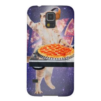 DJ kat - kat DJ - ruimtekat - kattenpizza Galaxy S5 Hoesje