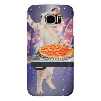 DJ kat - kat DJ - ruimtekat - kattenpizza Samsung Galaxy S6 Hoesje