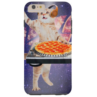 DJ kat - kat DJ - ruimtekat - kattenpizza Tough iPhone 6 Plus Hoesje