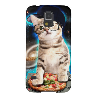 DJ kat - ruimtekat - kattenpizza - leuke katten Galaxy S5 Hoesje