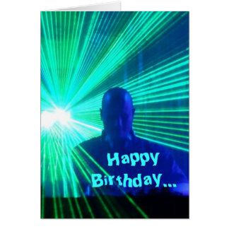 DJ op de dekken - verjaardagskaart Kaart