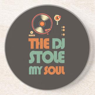 DJ stal mijn ziel Zandsteen Onderzetter
