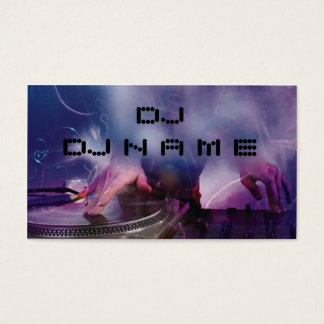 DJ- Visitekaartje Visitekaartjes