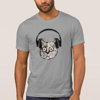 djs hoofdtelefoon grappige kat t shirt