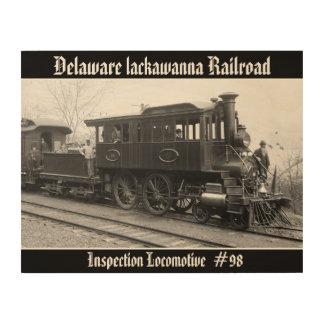 DL+ W de Locomotief van de Inspectie van de Stoom Hout Afdruk