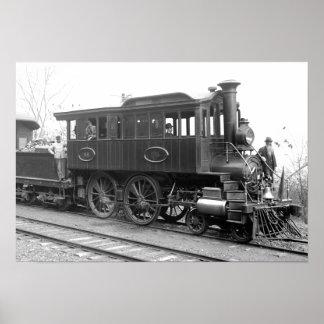 DL+ W de Locomotief van de Inspectie van de Stoom Poster