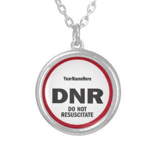 DNR reanimeert geen medisch label Zilver Vergulden Ketting