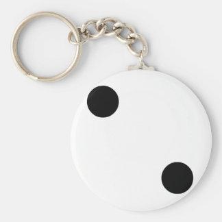 Dobbel 2 basic ronde button sleutelhanger