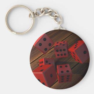 Dobbel Basic Ronde Button Sleutelhanger