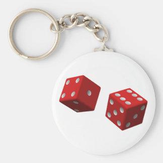 Dobbel Keychain Basic Ronde Button Sleutelhanger