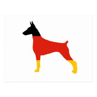 doberman pinscher Duitsland-vlag silhouet Briefkaart