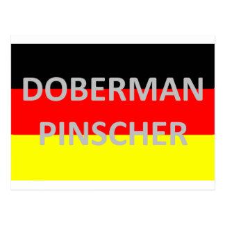 doberman pinschernaam op Duitsland-vlag Briefkaart