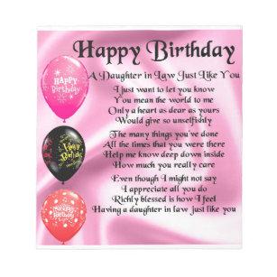 Verjaardag Dochter Notitieblokken Zazzle Nl