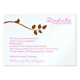 DOCUMENT van Dakota van de Uitnodiging van Mitzvah