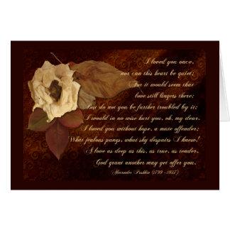 Dode Bloemen voor een Afgelopen Liefde Kaart