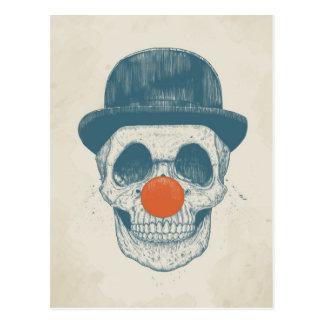 Dode clown briefkaart