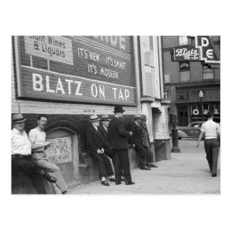 Dodende Tijd in Butte, 1939 Briefkaart