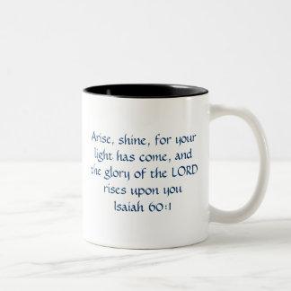 Doe me glanzen - het 60:1 van Isaiah voor Tweekleurige Koffiemok