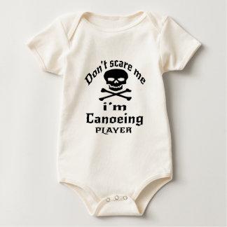 Doe schrikken me niet ik ben Canoeing Speler Baby Shirt