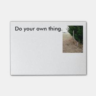 Doe uw eigen ding, oneven fencepost kleverige post-it® notes