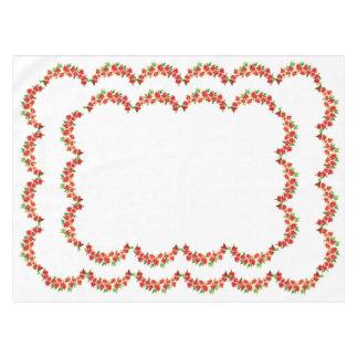 Doek van de Lijst van de Poinsettia van Kerstmis Tafelkleed