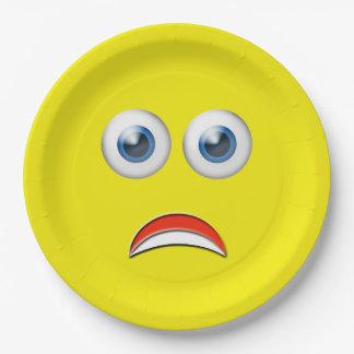 Doen schrikken Emoji Papieren Bordje