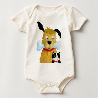 Dog with Bone & Cat Baby Toddler Baby Shirt