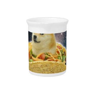 doge ruimtetaco meme drink pitcher