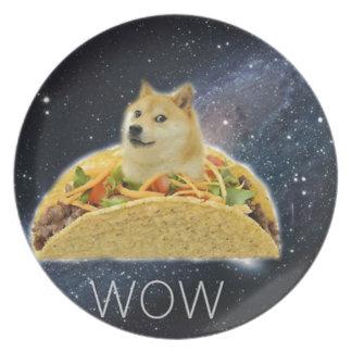 doge ruimtetaco meme melamine+bord