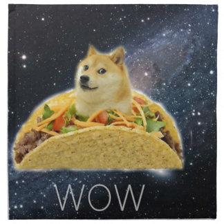 doge ruimtetaco meme servet